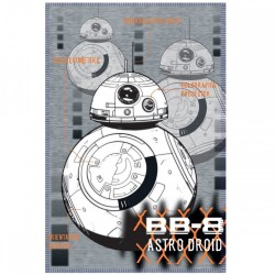 STAR WARS - PLAID UFFICIALE 140X100CM BB8